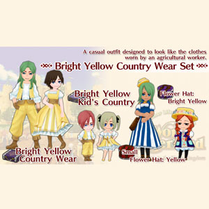 WorldNeverland Elnea Kingdom Bright Yellow Country Wear Set