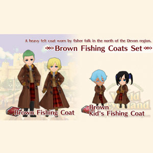 Buy WorldNeverland Elnea Kingdom Brown Fishing Coats Set Nintendo Switch Compare Prices