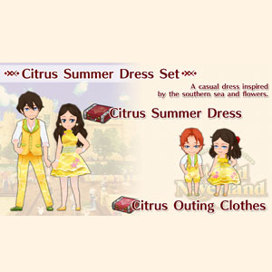 WorldNeverland Elnea Kingdom Citrus Summer Dress Set