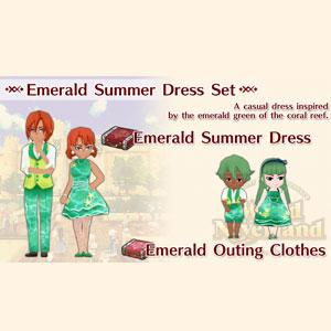 WorldNeverland Elnea Kingdom Emerald Summer Dress Set
