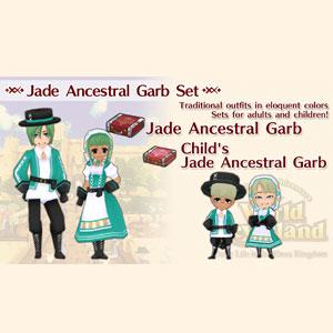WorldNeverland Elnea Kingdom Jade Ancestral Garb Set