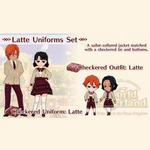 WorldNeverland Elnea Kingdom Latte Uniforms Set