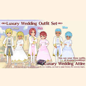 WorldNeverland Elnea Kingdom Luxury Wedding Attire Set