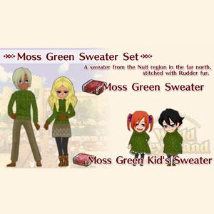 WorldNeverland Elnea Kingdom Moss Green Sweater Set