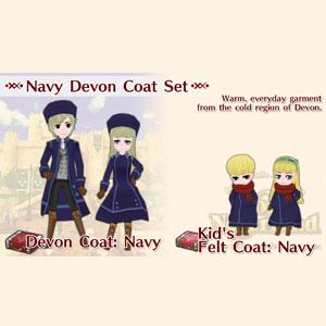 WorldNeverland Elnea Kingdom Navy Devon Coat Set