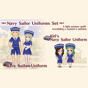 WorldNeverland Elnea Kingdom Navy Sailor Uniforms Set