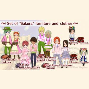WorldNeverland Elnea Kingdom Set of Sakura furniture and clothes