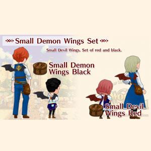 WorldNeverland Elnea Kingdom Small Demon Wings Set
