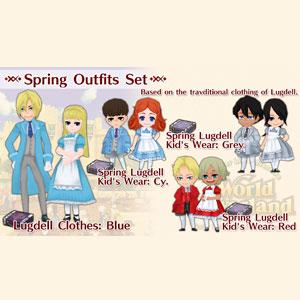 WorldNeverland Elnea Kingdom Spring Outfits Set