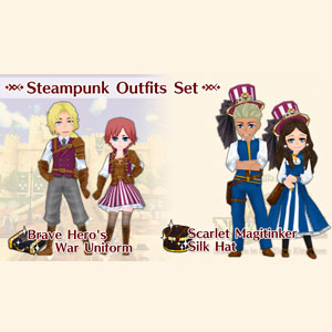 WorldNeverland Elnea Kingdom Steampunk Outfits Set