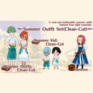 WorldNeverland Elnea Kingdom Summer Outfit Set Clean-Cut