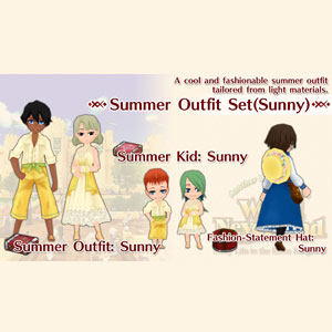 WorldNeverland Elnea Kingdom Summer Outfit Set Sunny