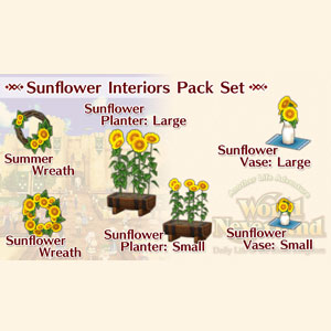 WorldNeverland Elnea Kingdom Sunflower Interiors Pack Set