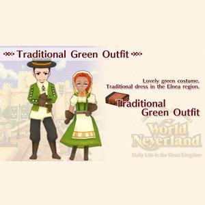 WorldNeverland Elnea Kingdom Traditional Green Outfit