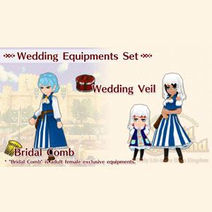 WorldNeverland Elnea Kingdom Wedding Equipments Set