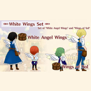 WorldNeverland Elnea Kingdom White Wings Set