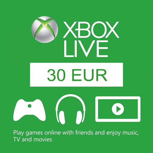Buy 30 Euro Card EU Xbox Live Code Compare Prices