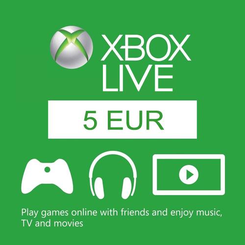 5 Euro Xbox Live EU Card