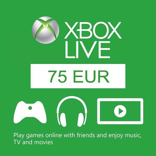 75 Euro Card Xbox Live