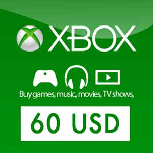 US 60 USD Xbox Live Gift Card