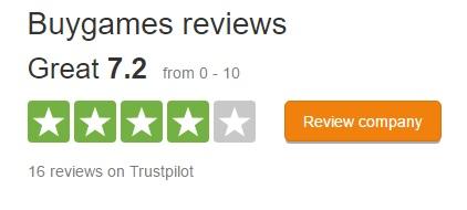 BuyGames trustpilot