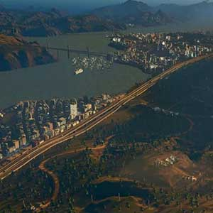 Top view of highway