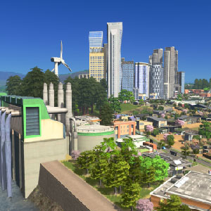 panoramic green city