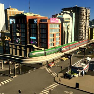 Cities Skylines Mass Transit Monorail in city
