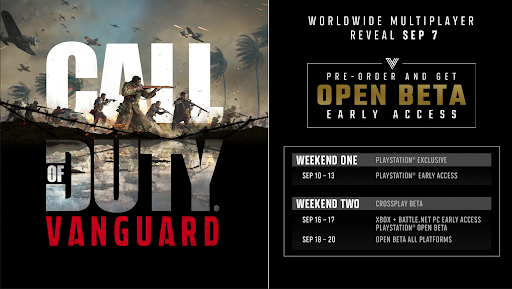 when does the Call of Duty: Vanguard beta start?