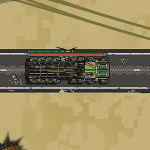 Supplies on combat vehicle