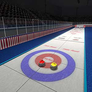 sweep the ice with a brush