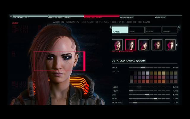 Cyberpunk 2077 Character Customization