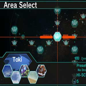DARIUSBURST Chronicle Saviours Area selection