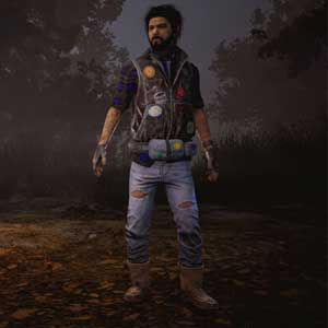 Dead By Daylight: Jake in Patches Denim Jacket and Leather Pants