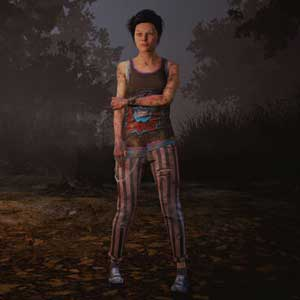Dead By Daylight: Nea in Skull Print Top and Stripes Of Power