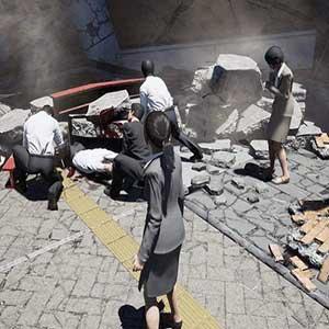 collapsing buildings
