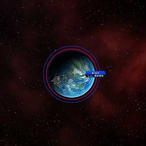 Whole view planet earth