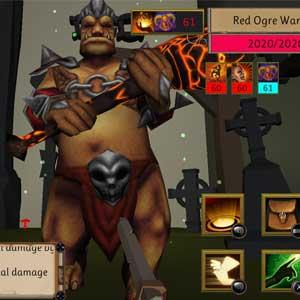Dungeon Scavenger Red Ogre Warrior