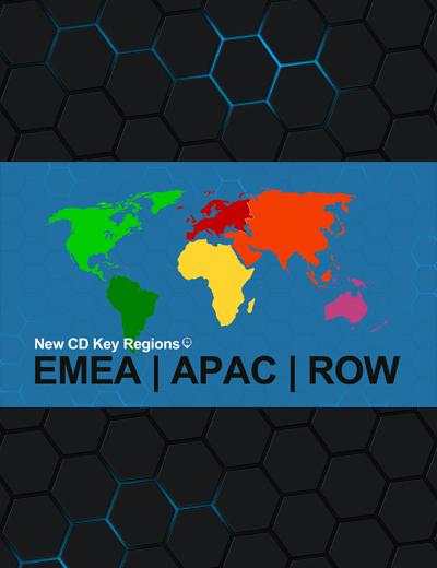 New CD Key Regions: EMEA, APAC, and RoW