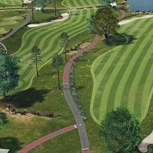Golf course fields