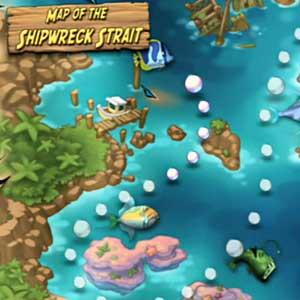 Feeding Frenzy 2 - Map of the Shipwreck Strait