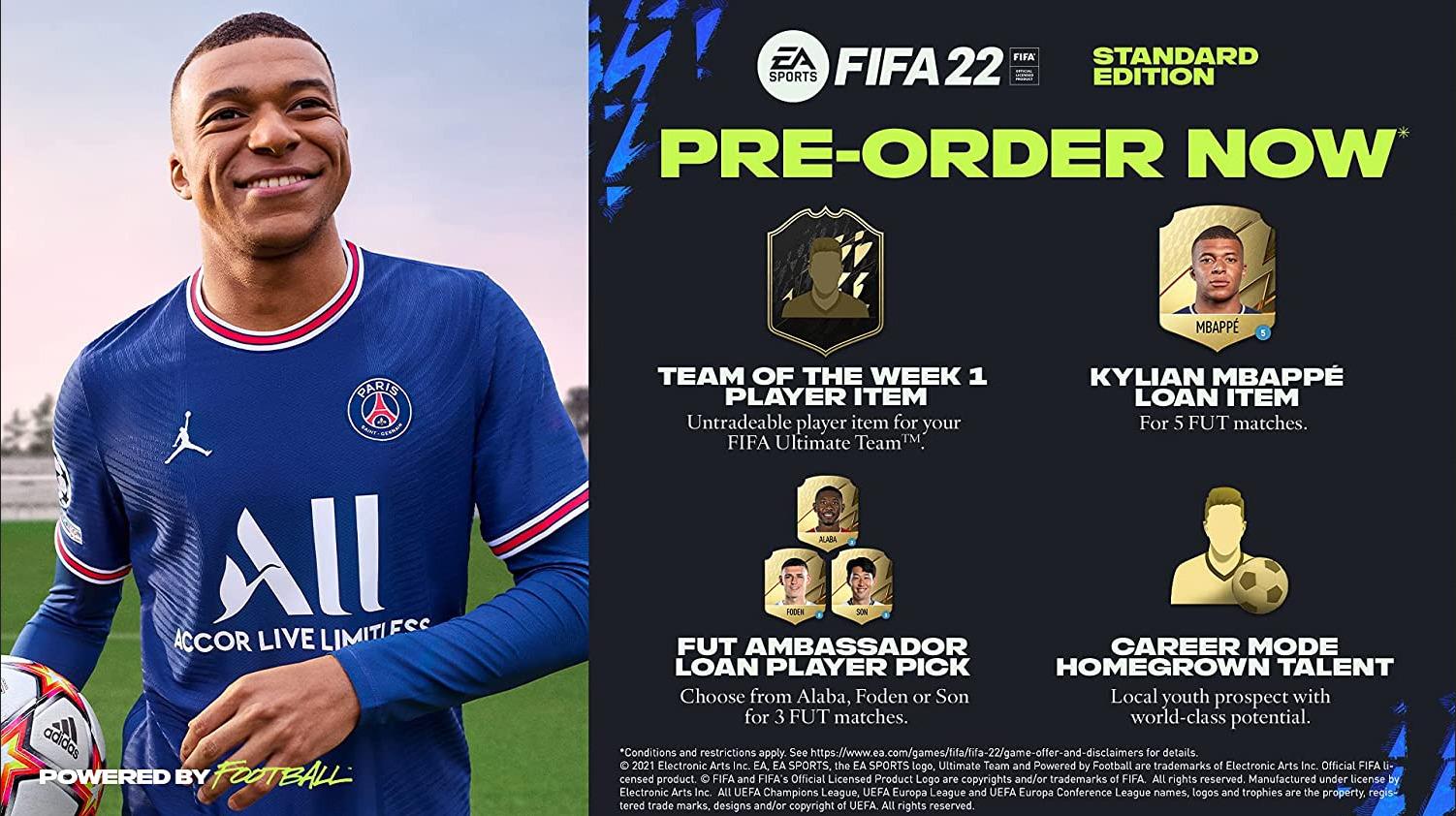 FIFA 22 Standard Edition Contents