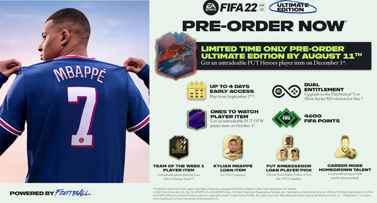 What Inside FIFA 22 Ultimate Edition?