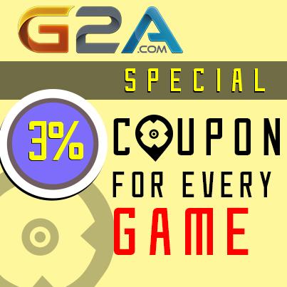 G2A.com 3% Coupon Special!
