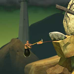Getting Over It with Bennett Foddy - climb and fly