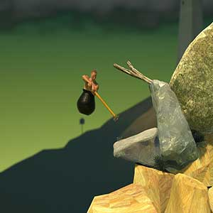 Getting Over It with Bennett Foddy - top of the mountain