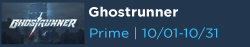 Ghostrunner Free with Prime Gaming