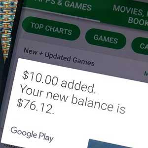 redeeming Google Play Gift Card