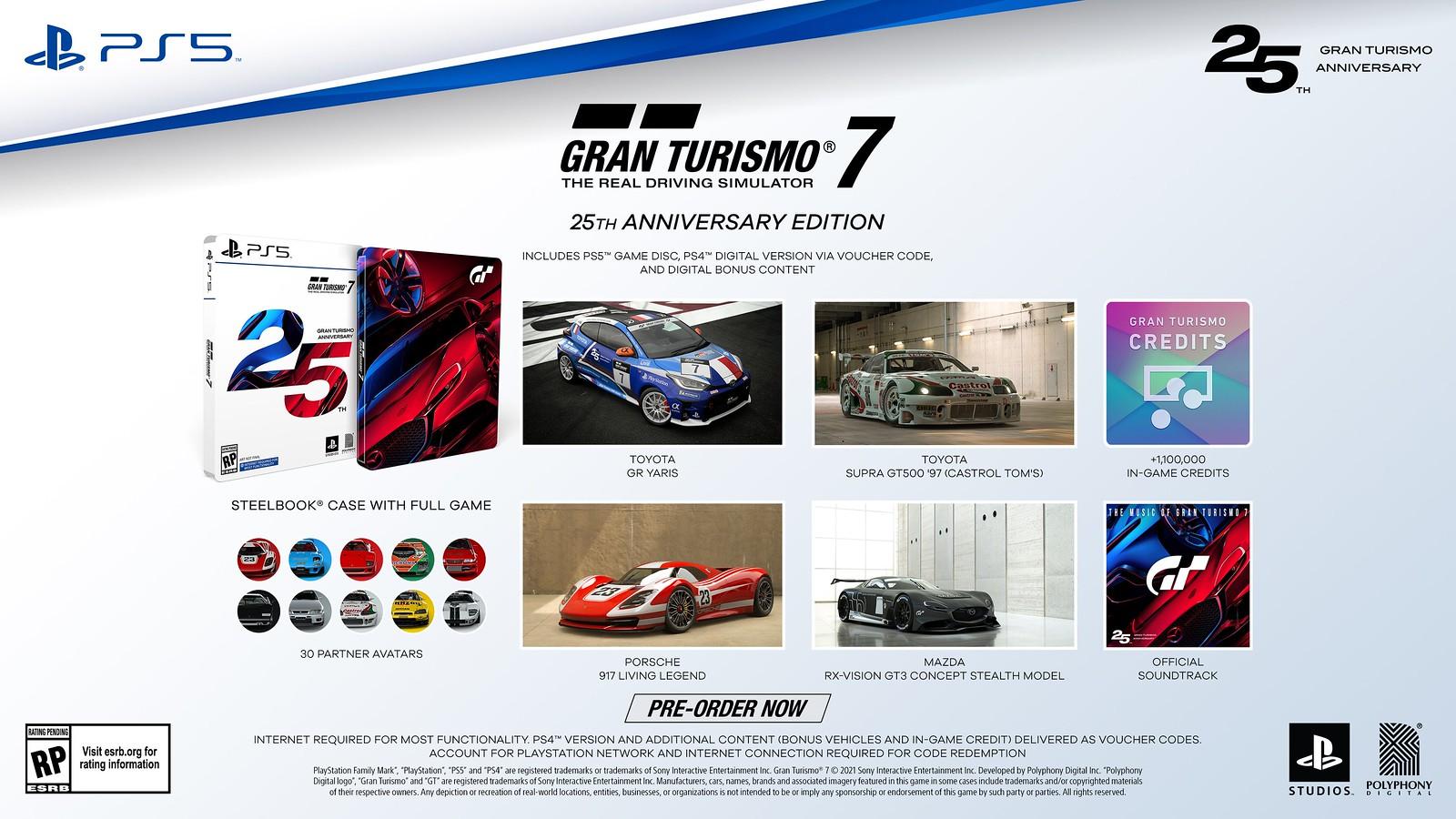 Gran Turismo 7 25th Anniversary Edition Retail