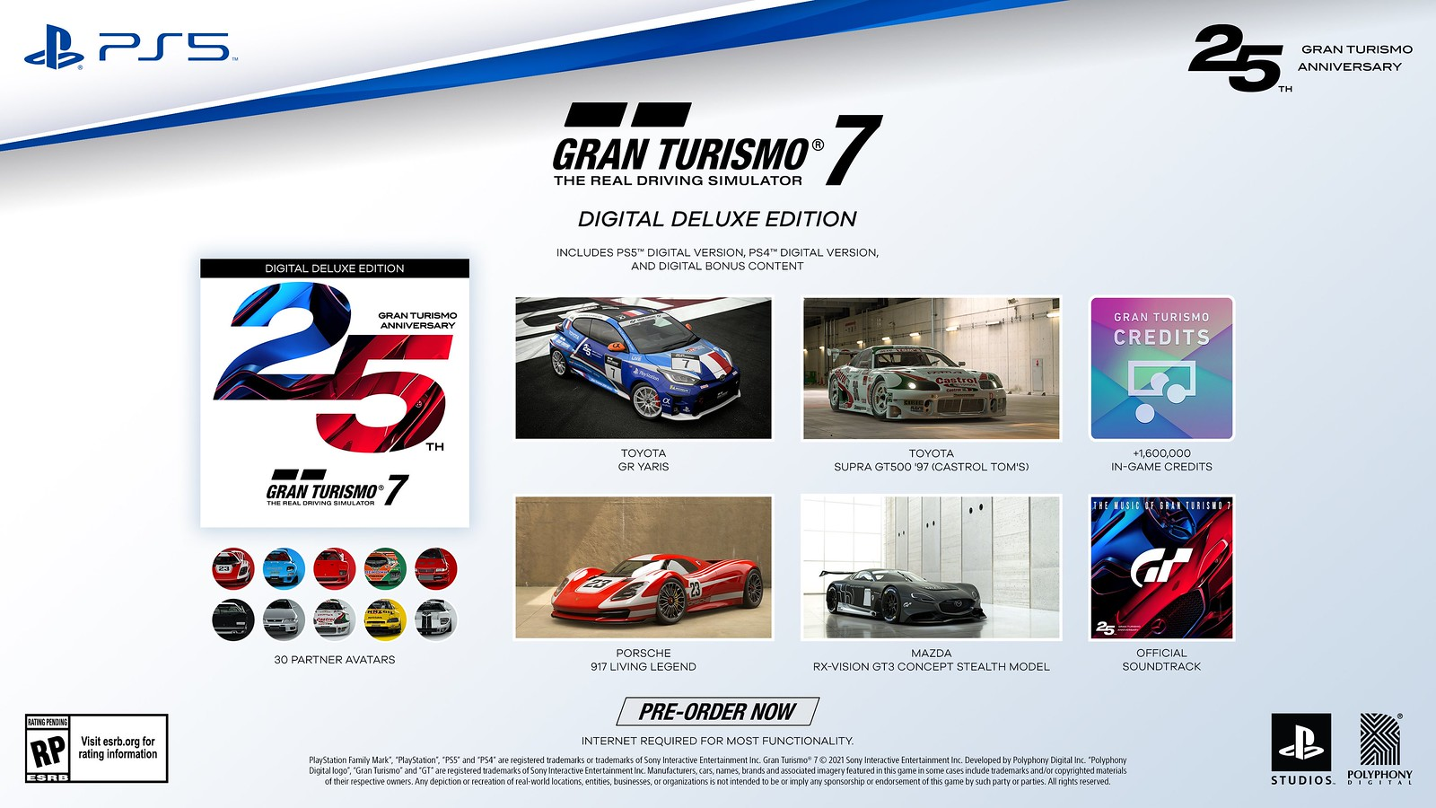 Gran Turismo 7 25th Anniversary Digital Deluxe Edition
